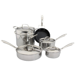 Cuisinart GreenGourmet Tri-Ply 10-Pc. Cookware Set