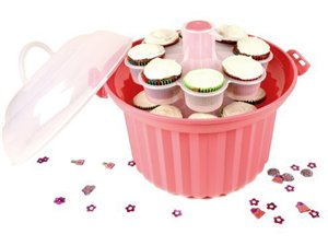 Fox Run Strawberry Pink Cupcake Carousel