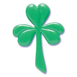 Bakery Crafts Shamrock Puffy Cupcake Picks