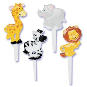 Zoo Animals Puffy Cupcake Picks