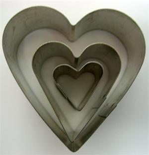 TBK Heart Gumpaste Cutter Set