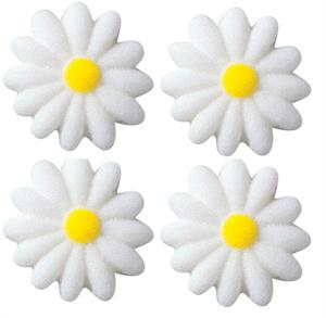 Lucks Daisies White Sugar Decorations