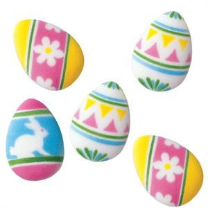 Decorated Easter Eggs Sugar Decorations