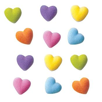 Lucks Rainbow Heart Charms Sugar Decorations
