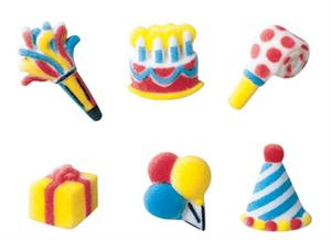 Lucks Mini Birthday Assortment Sugar Decorations