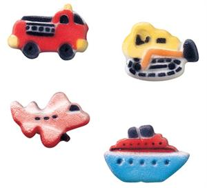 Lucks Vehicle Assortment Sugar Decorations
