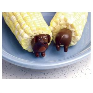 Charcoal Companion Dog Corn Holders - 4 Pairs