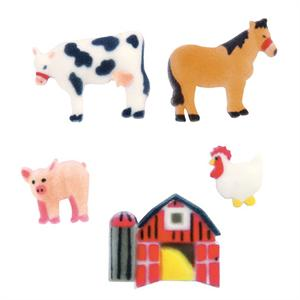 Lucks Farm Animals Sugar Decorations