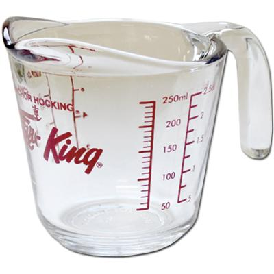 TBK Anchor Fire King Glass Measuring Cups