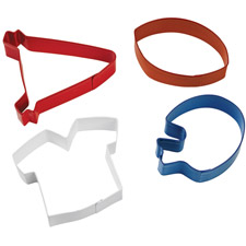 Wilton 4-Piece Football Theme Cookie Cutter Set