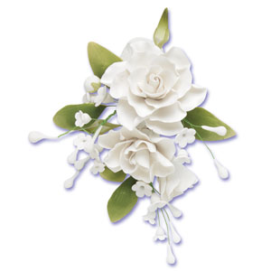 White Gardenia Spray Gumpaste Flowers