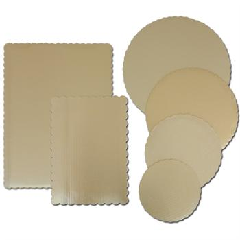 TBK Gold Cake Boards Round & Rectangle