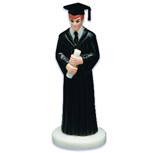 Bakery Crafts Boy Grad Cake Toppers
