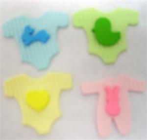 Baby Clothes Gumpaste Decorations