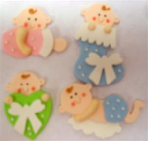 TBK Baby Asst Gumpaste Decorations