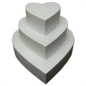 TBK Heart Cake Dummies 4 Inches High