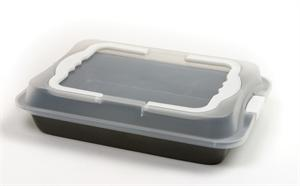 Norpro Cake Pan w/ Handles and Locking Cover Lid 9 X 13