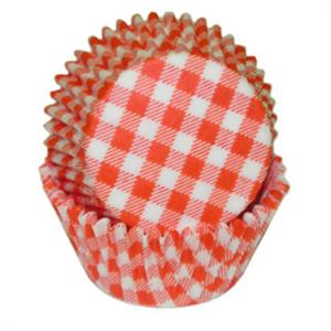 TBK Orange Gingham Baking Cups