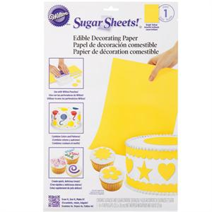 Wilton Solid Color Sugar Sheets Edible Decorating Paper