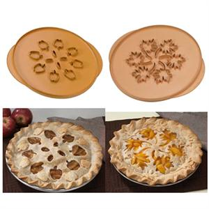 Nordic Ware Apples & Leaves Double-Sided Pie Top Cutter