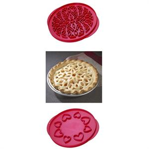 Lattice & Hearts Double-Sided Pie Top Cutter