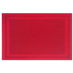 Pacific Merchants 17-in x 12-in Woven Placemat, Red
