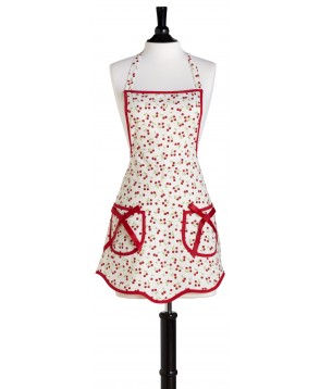 Jessie Steele Retro Cherries Print Bib Apron