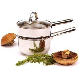 RSVP 1 Quart Stainless Steel Double Boiler