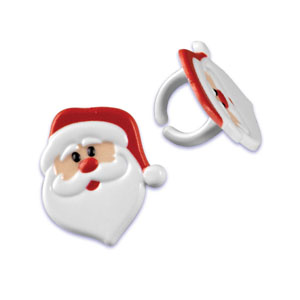 Bakery Crafts Santa Claus Face Rings