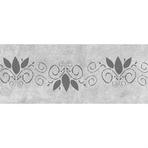 Burgeoning Scroll Side Cake Stencil 6in x 18in