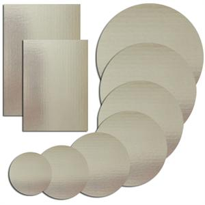 Silver Cake Boards Round & Rectangle