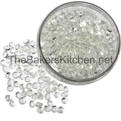 TBK Small Edible Diamonds 3/8 Inch Diameter-224 per pkg.