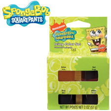Spongebob Squarepants Cake Icing Color set
