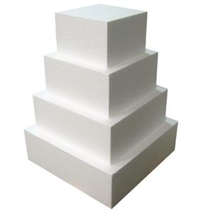 TBK Square  Cake Dummies 4 Inches High