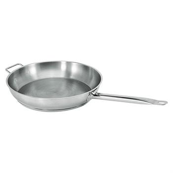Winco Stainless Steel 12-in Fry Pan With Helper Handle