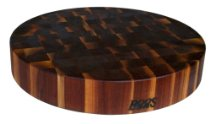 John Boos Chinese Style 18in x 3in Round Walnut Chopping Block