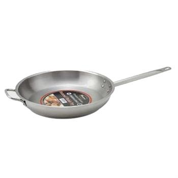 Winco Stainless Steel 14-in Fry Pan With Helper Handle