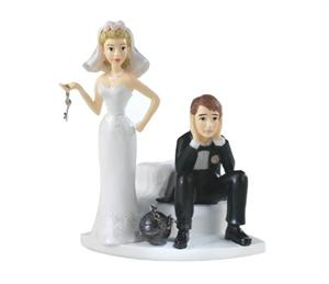 Ball & Chain Wedding Cake Topper