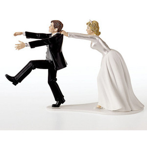 Bakery Crafts Oh No You Don't Wedding Cake Topper