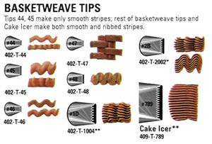 Basketweave Decorating Tips (sold Individually)