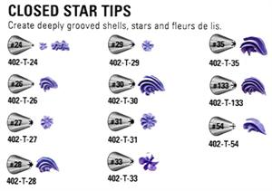 Closed Star Decorating Tips (sold Individually)