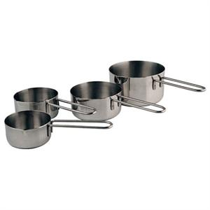 Commercial Measuring Cups 4-pc. Set Stainless Steel