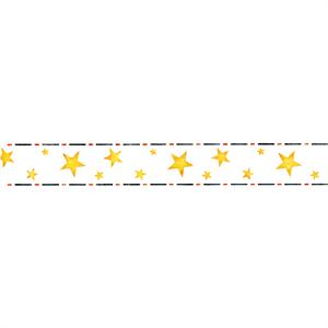 Border Of Stars Side Cake Stencil 4.5in x 33in