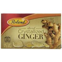Roland Sliced Crystallized Ginger, 3-Ounce Box