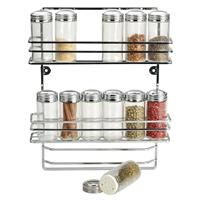 RSVP Endurance Hanging Spice Rack & 12 Bottle Set