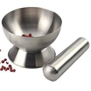 RSVP Stainless Steel Mortar & Pestle