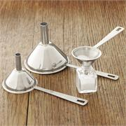 RSVP Endurance Stainless Steel Mini Funnels, Set of 3