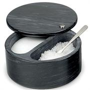 RSVP Black Marble Swivel Top Salt Box w/ Dual Compartment