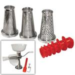 4 Piece Manual Food Strainer & Sauce Maker Accessory Kit