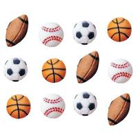 Lucks Sports Balls Sugar Decorations,12 Count Pack
